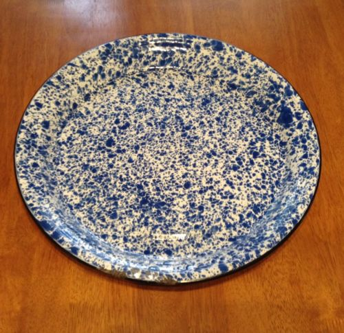 Blue Spattered Enamel 16