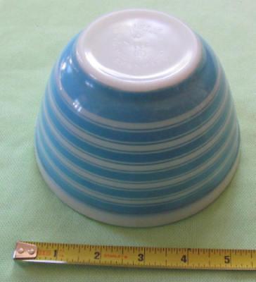 Vintage Pyrex blue stripe small bowl 1 1/2 pint nesting 401