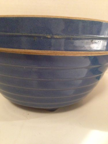 VTG STONEWARE Shoulder MIXING BOWL1920'S Blue/USA 9
