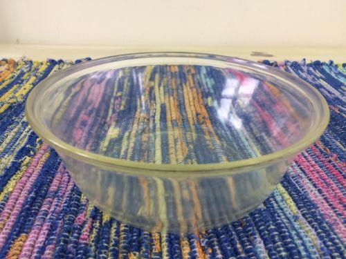 PYREX - Vtg 1920s Clear Glass 2 Qt Bowl, Backward Dollar Sign, 101