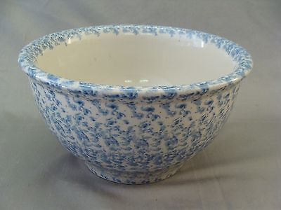 New Housewares International Blue Sponge Pattern Stoneware Mixing Bowl