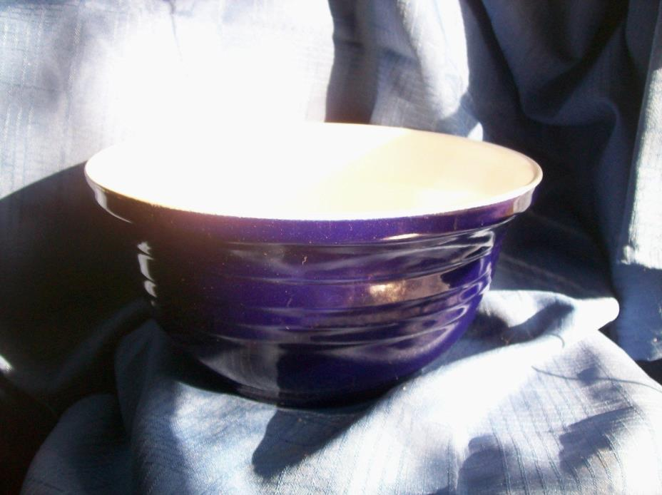 Royal Blue STONEWARE MIXING BOWL~ 3 Quarts