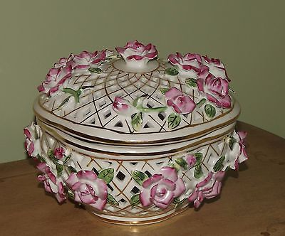 Formalities Bowl with Pink Roses Kitchen Collectible Baum Bros Beautiful