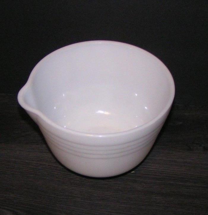 Vintage Pyrex Hamilton Beach Milk Glass Bowl Mixing Mixer USA Replacement No. 27