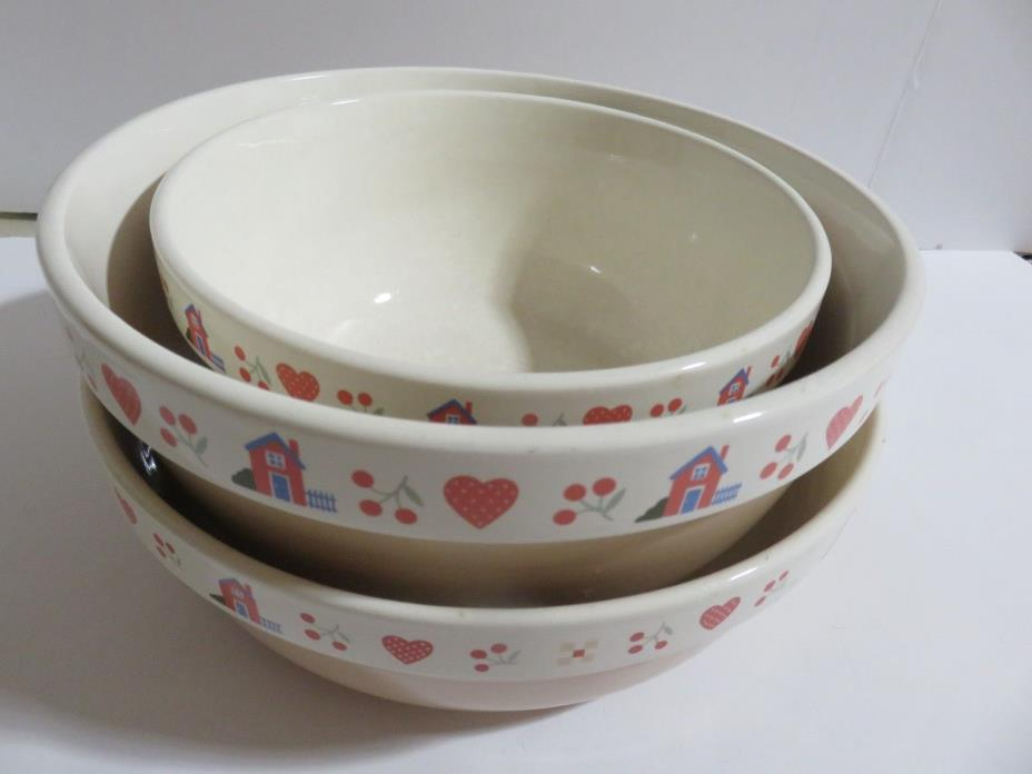 Vintage RainTree LTD Heart And Home Collection Mixing Bowls (2), 1 Baking dish