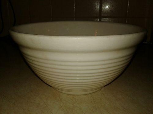 Antique Ribbed Stoneware Mixing Bowl 9