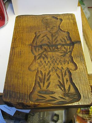 VINTAGE WOODEN BREAD/COOKIE PRESS/MOLD-SAILOR FIGURE?