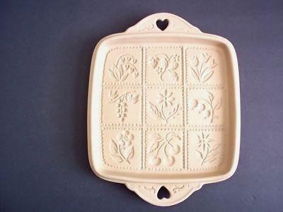 Brown Bag break apart cookie shortbread mold flowers fruit 1988 tab heart handle