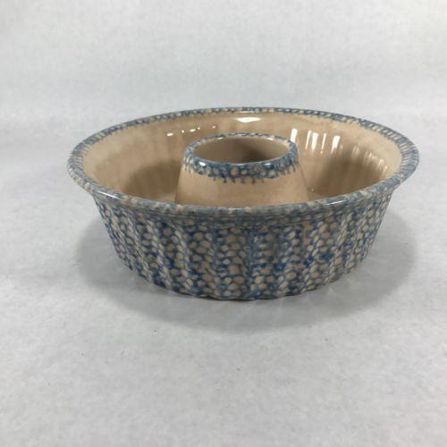 Ceramic Mold - Specked Blue - Bundt cake Or Jello