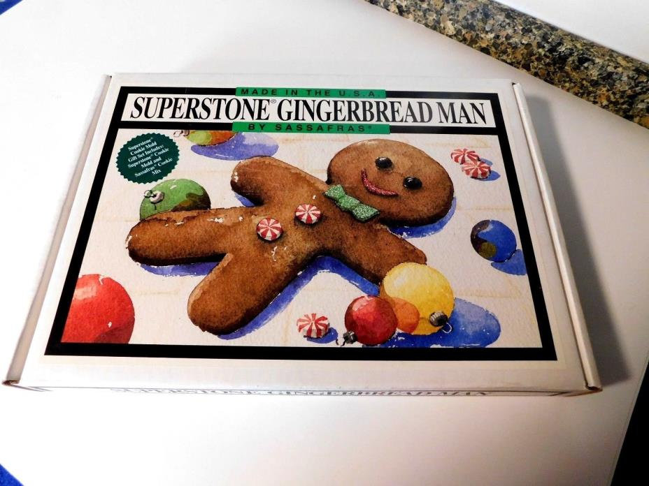 Sassafras Superstone Gingerbread Man - NIB