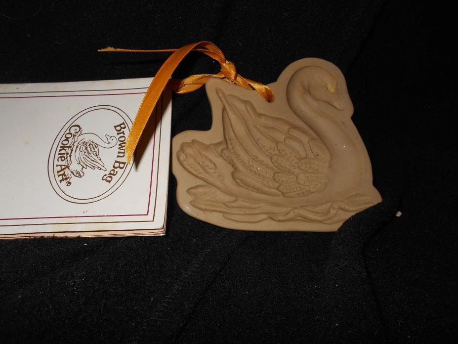 Brown Bag Cookie Art Mold 1982 Swan Vintage With Recipe Book
