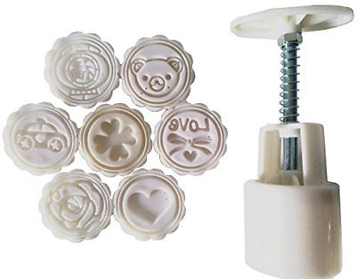 Father.son China's Mid-Autumn Festival Moon cake mould DIY tools set white of 8