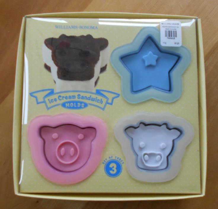 Williams-Sonoma Ice Cream Sandwich Molds, set of three