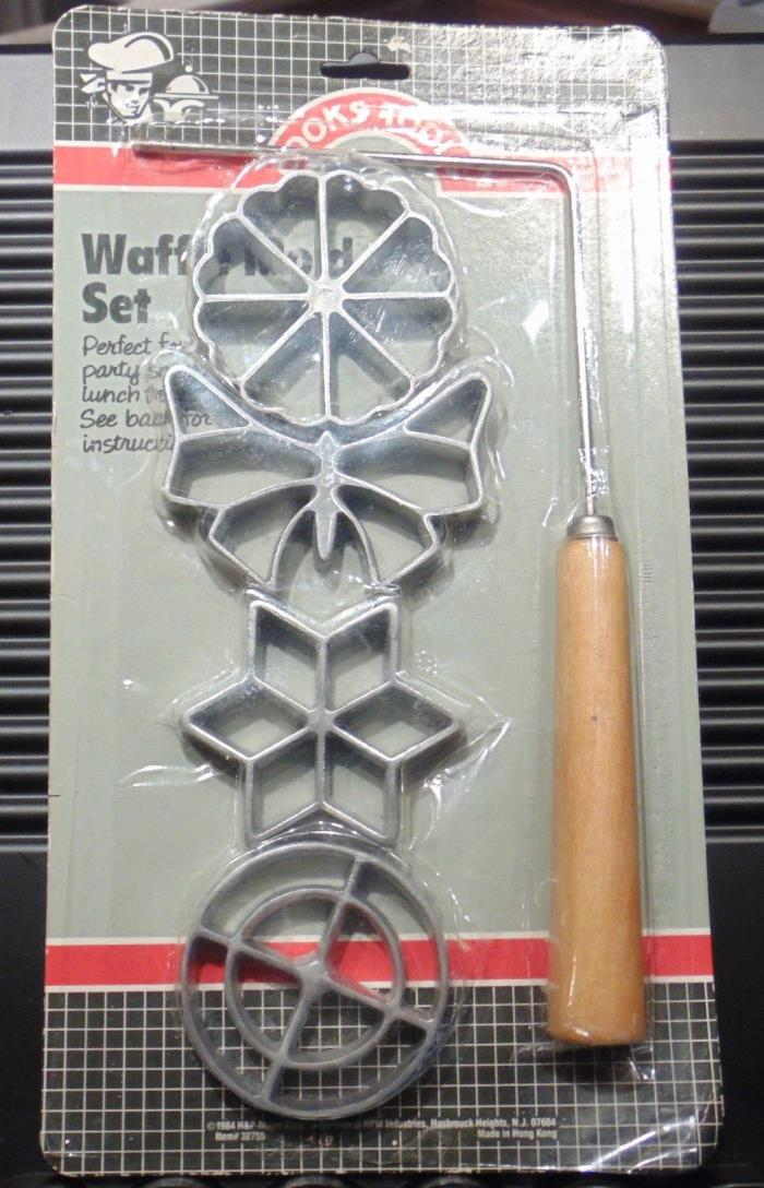 Waffle Mold Set in Package Vintage  H & P Mayer Corp