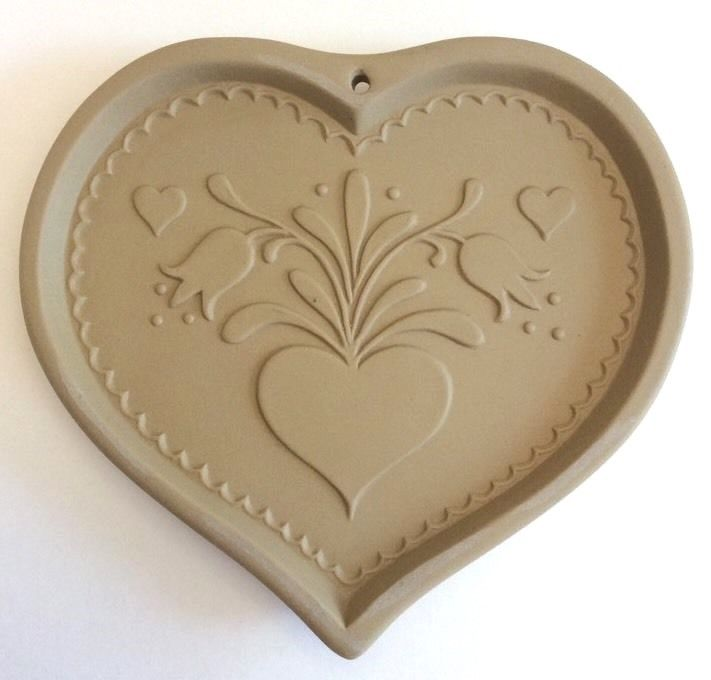 Brown Bag Cookie Art COOKIE MOLD Hearts & Tulips Rosemailing Craft Paper 1986