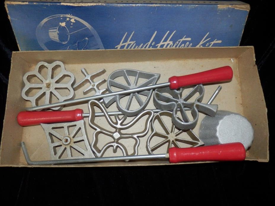 Vintage Handi Hostess Kit Waf-L-ette & Patty Shell Molds USA Bonley Product