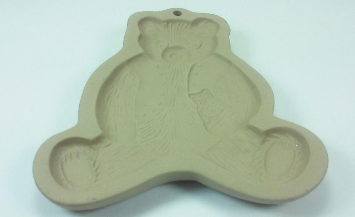 1984 BROWN BAG COOKIE ART TEDDY BEAR HOLDING A TEDDY BEAR MOLD