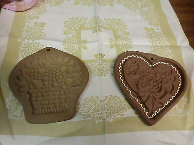 Hartstone Cookie Molds Basket Shape and Heart Shape with Roses