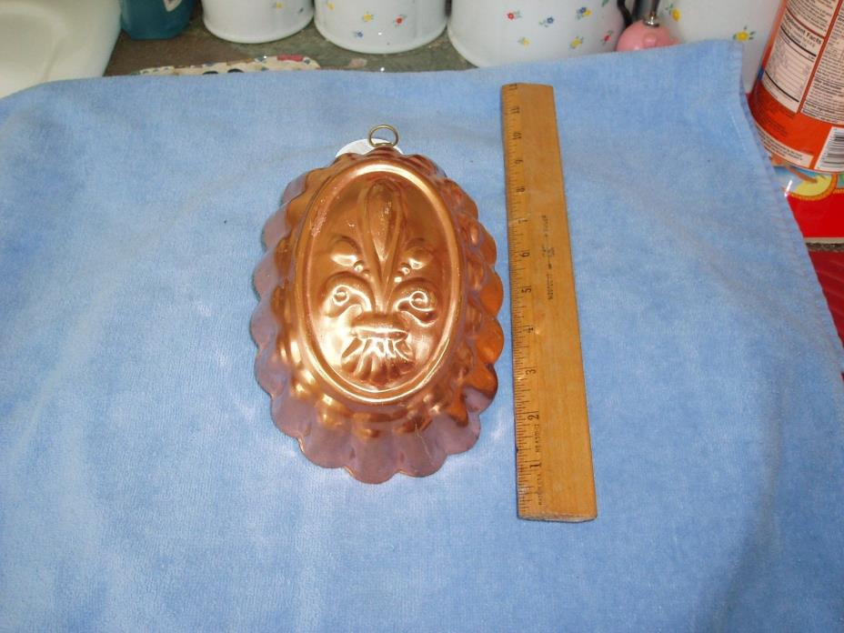 Vintage Copper Pineapple Cake Pan / Jello Mold, Tin Lined, Tagus, Portugal VG