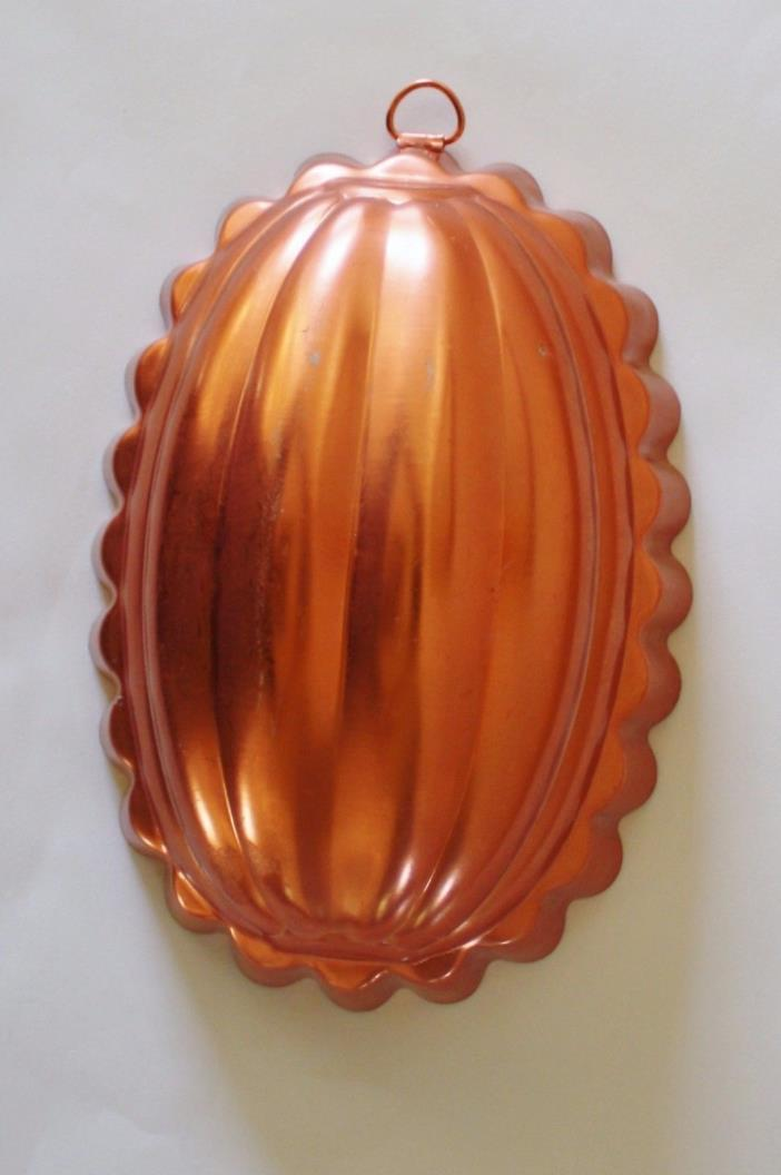 Copper Oval Kitchen Jello Mold 2 1/2 cups