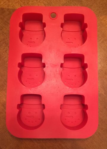 Christmas Holiday Red SNOWMAN Silicone Cupcake Muffin Baking Mold