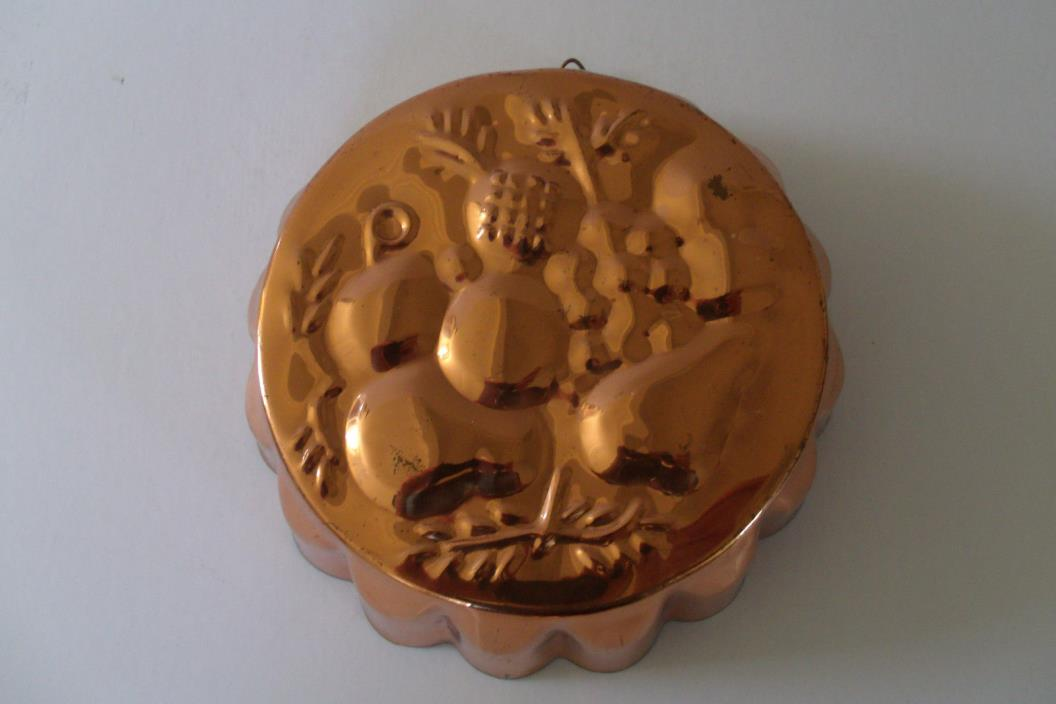 Vintage COPPER & TIN ASPIC FRUIT MOLD - Made in Portugal - 8