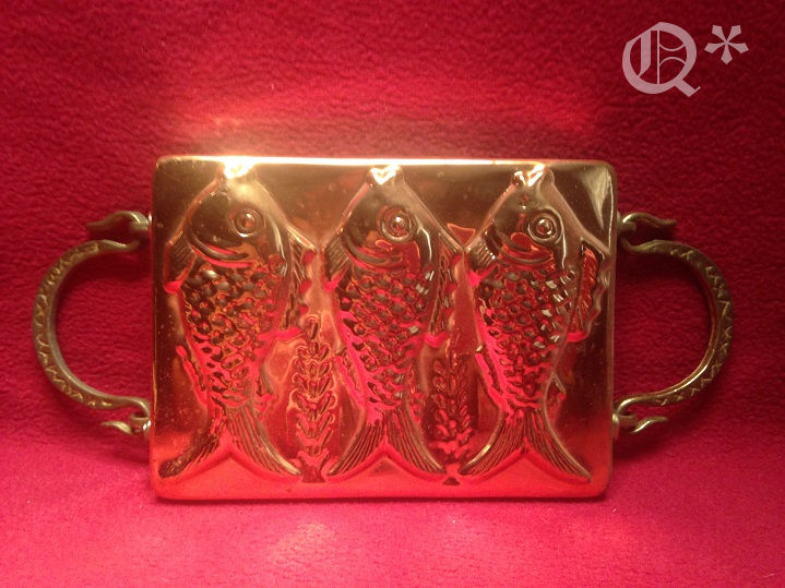 1980s Copper Three Fish Mold