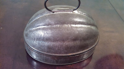 Antique Tin Jello Mold 1Qt. N.Y.C. Apprd. D-2