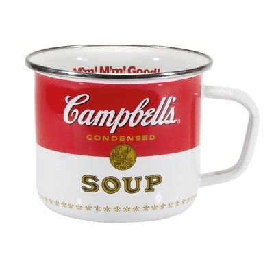 Officially Licensed Steel Giant Enamelware Mugs - Campbell's Soup
