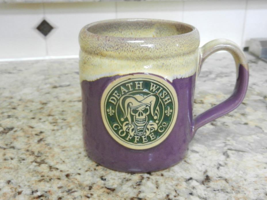 2016 Death Wish Coffee Mardi Gras Deneen Pottery Coffee Mug #1606