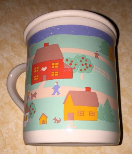 HOME Coffee Mug Cup With Coaster Lid Hallmark Mug Mates 1988