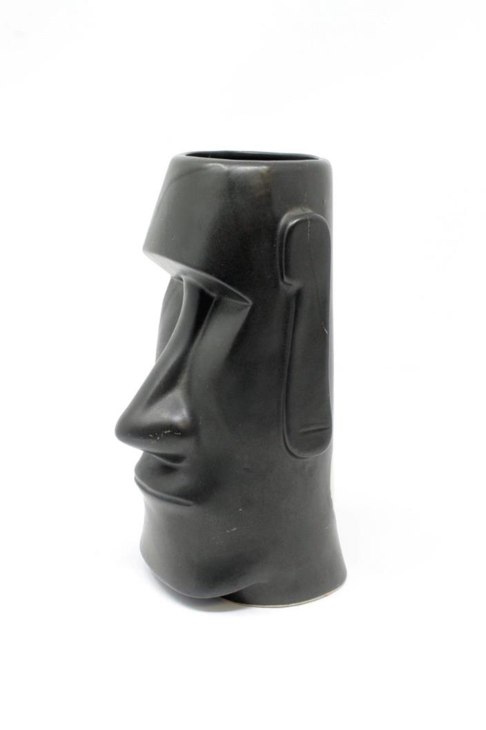 The Fireside Tiki Mug Vintage Black Easter Island Fort Atkinson WI OMC Japan