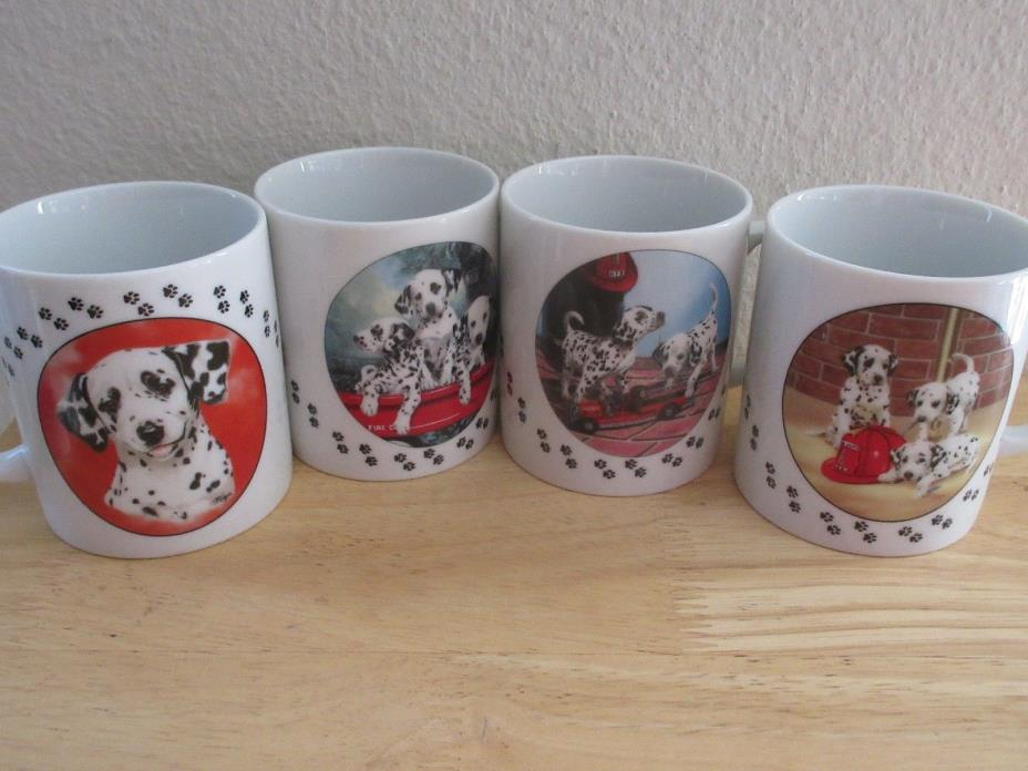 The Darling Dalmatian Mug Princeton Gallery Collection Set of 4 New Dogs