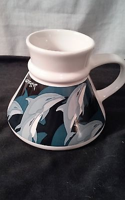 Vintage TOM TAYLOR Dolphin Otagiri Flat Bottom Coffee Mug