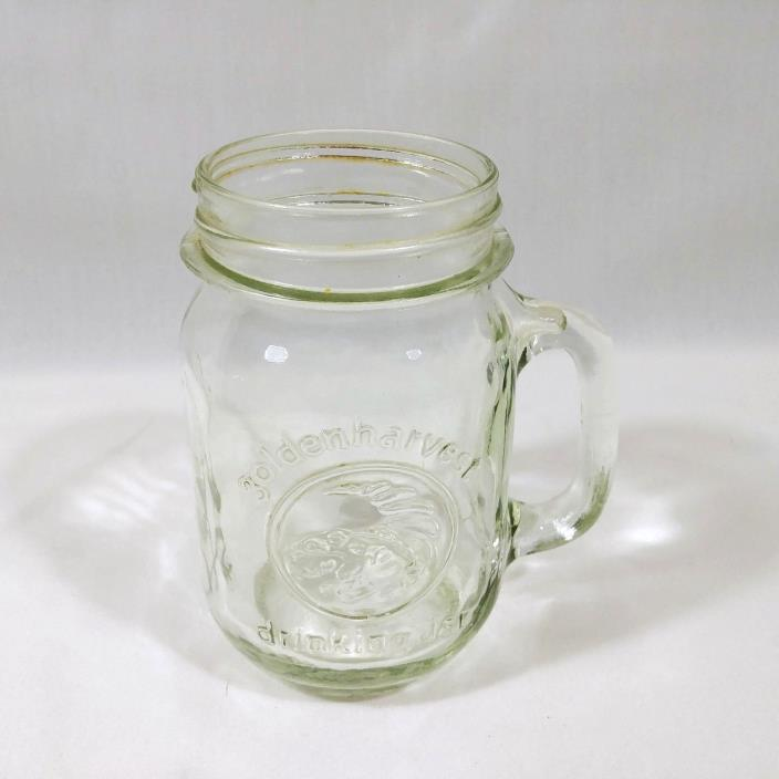 Golden Harvest Pint Size Drinking Mug Glass
