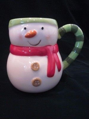 new SNOWMAN FIGURAL MUG by Essentialhome.