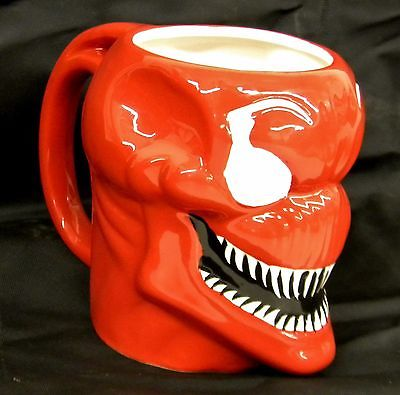 MARVEL Comics SPIDER-MAN Red Venom Carnage 16-oz. 3D Molded-Head MUG Coffee Cup