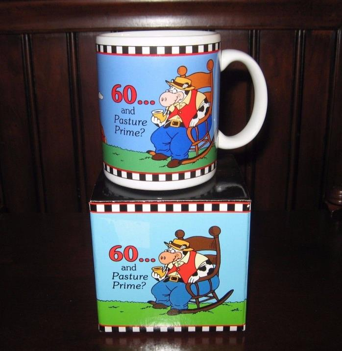 Pasture Prime 60th Birthday Coffee Mug Cup 60 and Pasture Prime PAPEL New in Box