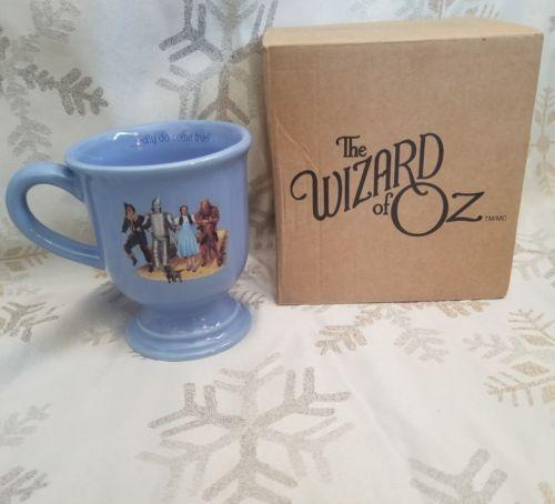 Wizard Of Oz Wishes Really Do Come True Dorothy Blue Pedestal Coffee Cup Mug