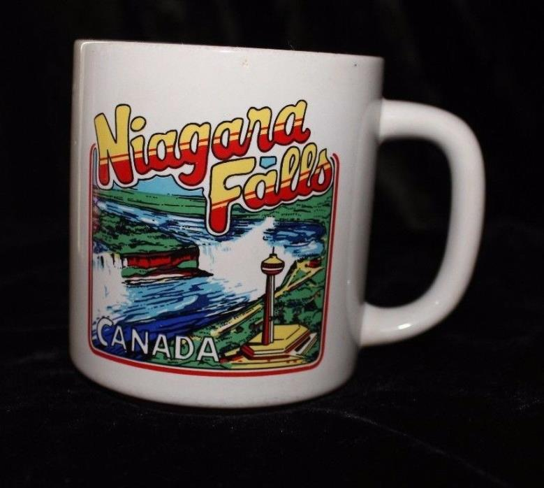 Vintage 80's Niagara Falls Canada Tourist Coffee Mug Popart Trendy Prop