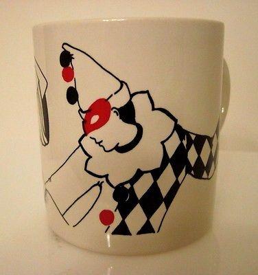 Sandy Traur Boston Warehouse White Mime, Clown Coffee Mug, England