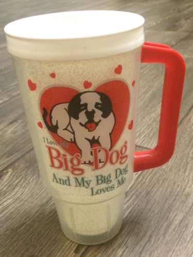Big Dog Travel Mug Coffee Cup I Love My Big Dog And My Big Dog Loves Me