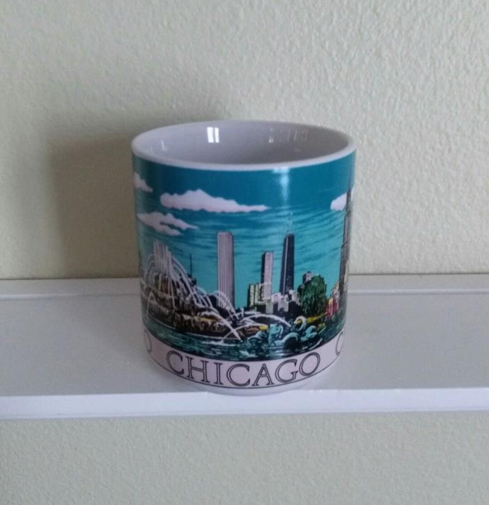 Chicago Cup Mug City Scenes Buckingham Fountain Skyline