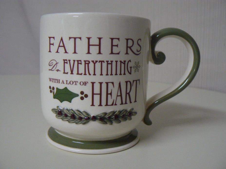 Amscan FATHERS DO EVERYTHING MUG With a Lot of Heart Holly Leaf with Berry