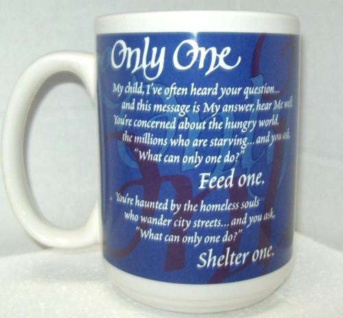 Abbey Press ONLY ONE Inspirational BJ HOFF MUG 14oz Coffee Tea Cup NWT OLD STOCK