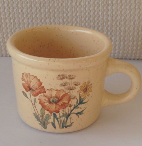 Treasure Craft Pottery Mug Coffee Cup # 851 Floral Motif EUC!