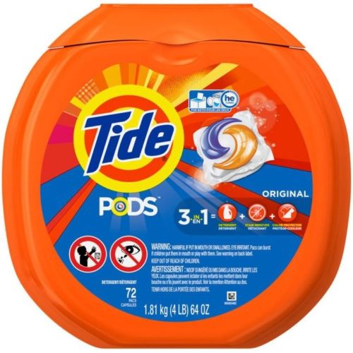 Tide PODS Original Scent HE Turbo Laundry Detergent Pacs 72 Pac Tub *BRAND NEW*