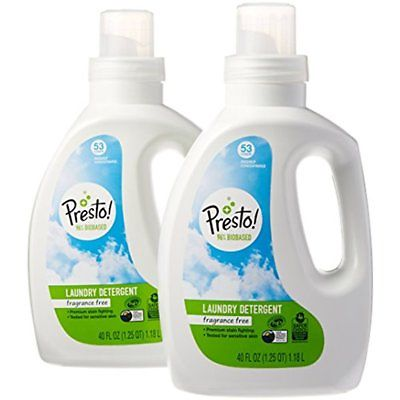 Presto 96% Biobased Concentrated Liquid Laundry Detergent, Fragrance Free, 106
