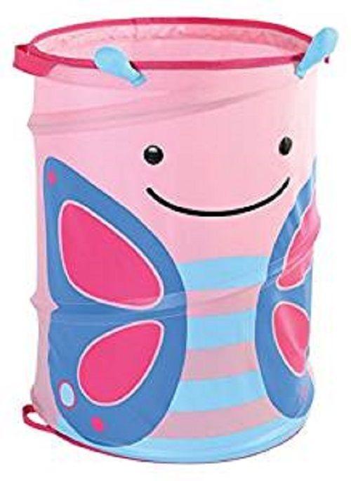 Zoo Pop Up Pink Butterfly Storage Hamper New