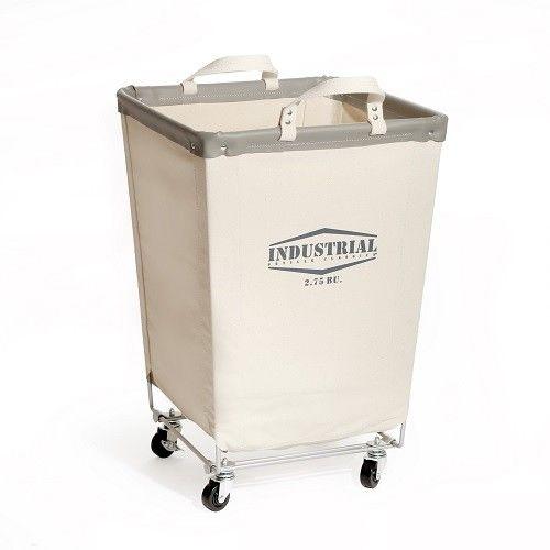 Laundry Hamper Cart Seville Classics Off-white Canvas/Cotton Commercial
